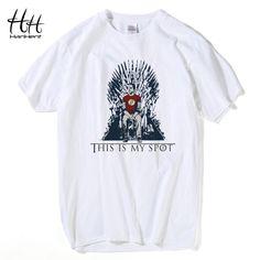 Hanhentはビッグバンtheory tシャツ男性これは私のスポットを氷の歌と炎tシャツシェルドンクーパーtシャツカジュアル男clothing