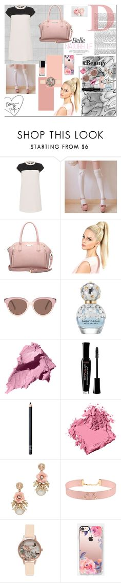 """White n' pink"" by tuicat14 ❤ liked on Polyvore featuring Paule Ka, Valerie, Preen, Marc Jacobs, Bobbi Brown Cosmetics, Bourjois, NARS Cosmetics, Johnny Loves Rosie, Olivia Burton and Casetify"