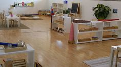 Montessori preschool-classroom - no clutter gives calm and feels spacious