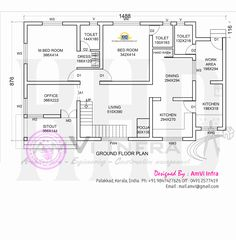 Free 6 Bedroom Modern House Plans Larissa Runkle, provided byBest Space Modern 6 Bedroom House Design - ID 26603 - Floor Plans by Duplex Floor Plans, Modern House Floor Plans, Home Design Floor Plans, Low Cost House Plans, Round House Plans, Home Map Design, Free Floor Plans, Indian House Plans, Kerala House Design