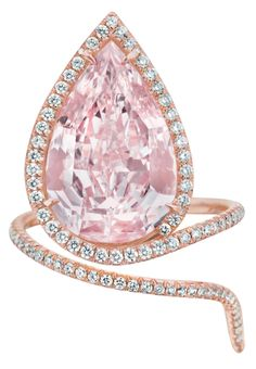 A Magnificent Fancy Pink Diamond Ring.