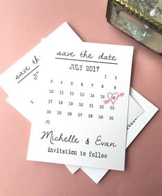 Would you like for your guests to oooh and ahhh and actually contact you to tell you how darling your save the date cards are!? These are your save the dates then! We get the most rave reviews from these !! We will enter your names and put a heart around the date for you ! You can