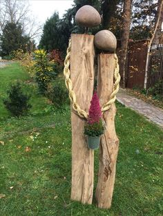 Garden sculptures stone, stone sculpture, garden art, lawn and garden, gard Stone Sculpture, Garden Sculptures Stone, Art Sculptures, Sculpture Ideas, Outdoor Sculpture, Diy Garden Projects, Garden Crafts, Garden Ideas, Patio Ideas