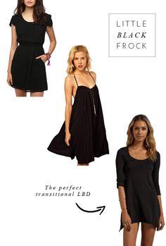 3 Affordable Little Black Dresses