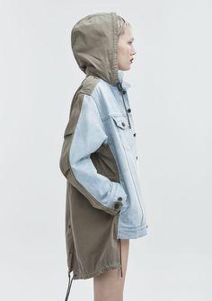 Alexander Wang Daze Mix Jacket - Military Green S Sport Fashion, Denim Fashion, Boho Fashion, Autumn Fashion, Fashion Outfits, Womens Fashion, Denim Ideas, Fashion Details, Fashion Design