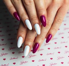 Winter nails #nails #longnails #semilac #mardigras #white