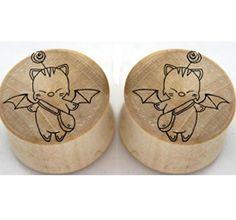 Final Fantasy Moogle on Crocodile Wood #plugs #moogle #vote #voteforme