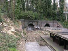 Highgate abandoned tube station, Archway Road, Highgate, London, UK
