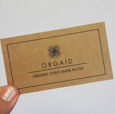 We finally have our business cards!! Doesn't it look lovely? Clean, simple, and natural lookin'.  www.orgaid.com  #orgaid #organic #natural #clean #simple #business #businesscards #beautiful #sheetmask #skincare #madeinusa #realbusiness
