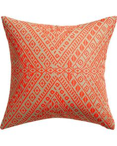 """tribal band 18"""" pillow with feather-down insert"""