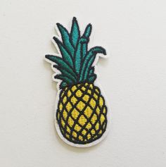 Pineapple Iron-On Patch Tropical Fruit Patch DIY by kindersticker