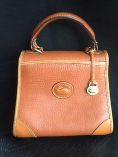 Vintage Brown Leather Dooney and Bourke Purse by BeCreative2