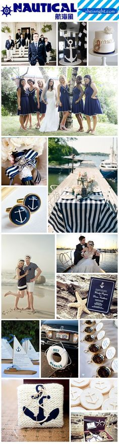 Nautical Theme Wedding Inspiration Board