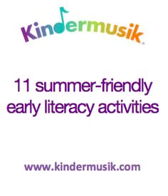 11 summer-friendly literacy activities for parent involvement in education | Minds on Music#.U61vWso5x98.facebook