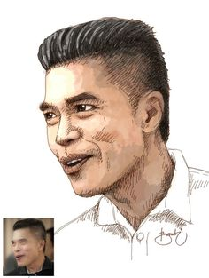 Digital Drawing Face Thank You For Mr Pitak From Thailand Asianmale