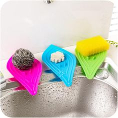 Sponge Holder Slip Ring Leaves Soap Box Drain and Clean Soap Dishes Tray Drain Creative Bath Tools Bathroom Kitchen Sink Kitchen Dishes, Soap Dishes, Kitchen Sink, Kitchen Sponge Holder, Cheap Bathroom Accessories, Dish Storage, Storage Rack, Shower Holder, Vintage Appliances