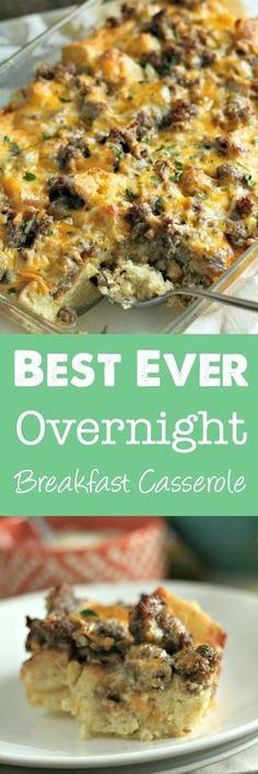 Search no more: this is the BEST overnight breakfast casserole! Using english muffins, sausage and eggs, this is perfect for a crowd! via (Brunch Recipes Easy) Breakfast And Brunch, Breakfast Bake, Breakfast Items, Breakfast Dishes, Breakfast Recipes, Morning Breakfast, Breakfast Muffins, Best Brunch Recipes, Breakfast Enchiladas