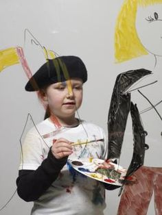 Help your little Rembrandt feel like a real artist with a painter's beret. You could knit or crochet a beret, however a sewn beret made from a durable material, like denim, is better able to stand up to rigorous play, paint spills and machine washing. Give this hat with a new apron, drawing pad or paint set to get your young artist started.