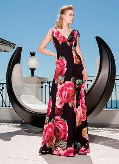 ab7ebafb Vestido estampado de flores de Sonia Peña - Comprar Online