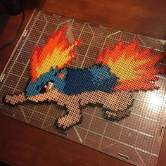 Quilava (156) Pokemon hama beads by Nick Galilei  Omg! Quilava is one of my favs, I need to do this.