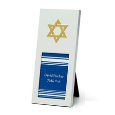 Star of David Place Card Frames - 12 pack #starofdavid #religious #partyfavor #placecardframe