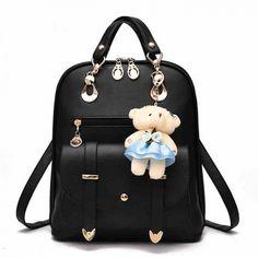 How nice New College Women Bag British Bear Multifunction Handbag Backpacks ! I want to get it ASAP! Cool Backpacks For Girls, Cute Backpacks, Girl Backpacks, School Backpacks, Leather Backpacks, Fashion Bags, Fashion Backpack, Fashion Handbags, Lace Backpack