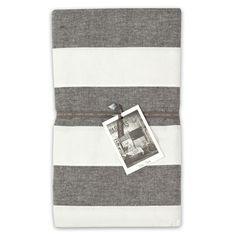 135x180cm Wide Stripe Table Cloth Caviar