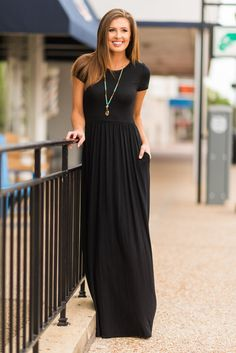 """""""The Take Off Maxi Dress, Black""""It's just a matter of time before everyone sees this beauty and the sells take off! #newarrival #shopthemint"""