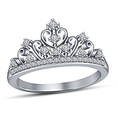White Gold Over On Alloy Crown Ring, Princess Crown Ring ... https://www.amazon.com/dp/B06XQLDC24/ref=cm_sw_r_pi_dp_x_skAZyb9CHW6JD