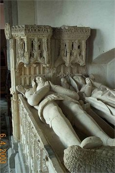 Tomb of Sir Richard Croft and his wife Eleanor Cornwallis in St Michael's Church at Croft Castle, Yarpole, Herefordshire, England   ((17th Great Grandfather & Grandmother) by previous pinner))