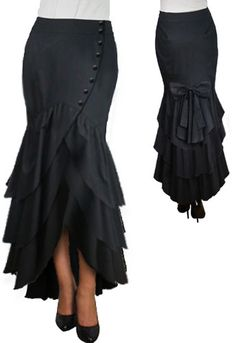 Victorian Low Bustled Flare Skirt  by Amber Middaugh ----