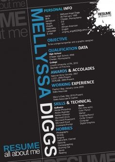 Designers Don't Use Word Templates! This graphic resume turns your skills into facts about you.