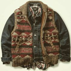 RRL... Combat Pants, Casual Outfits, Fashion Outfits, Outdoor Wear, Cool Jackets, Men Style Tips, Western Outfits, Vintage Denim, Mens Clothing Styles