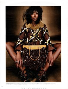 The amazing Naomi Cabmpell for W Magazine 2012