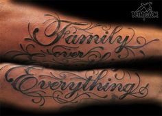 Family Over Everything Tattoo by NY Nic at Body Language Tattoo Shop NYC #tattoo #armtattoo #tattooartist