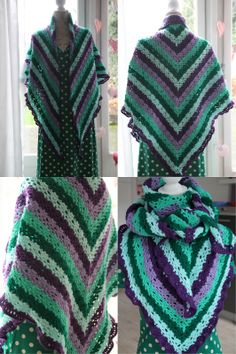 Crochet shawl with link to free pattern