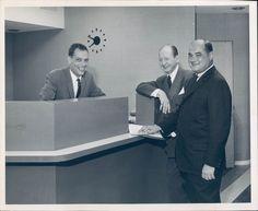 1959 Photo Continental Business Men Clock Suit Tie Historic Vintage Smiling