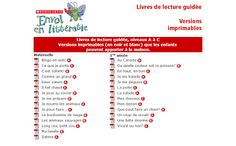 Primary French Immersion Resources: Free printable French books