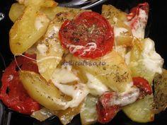 Cartofi cu roşii şi mozzarella