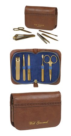 If you've got places to go, people to see, and want to look great while doing so, then this grooming kit just might be the thing for you. Keep fingernails and eyebrows squarely in check with this trave...  Find the Baker Grooming Kit, as seen in the Gifts for Him Collection at http://dotandbo.com/collections/holiday-gift-guide-gifts-for-him?utm_source=pinterest&utm_medium=organic&db_sku=113400