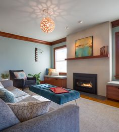 Midcentury Living Room Josh Partee Photography - Fig Studio