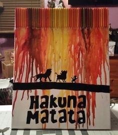 Lion king crayon art Lion King Crafts, Crayon Art, Art Ideas, Diy Crafts, Activities, School, Prints, Baby, Painting