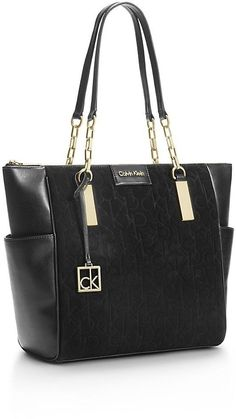 Calvin Klein Womens Brynn Chain Tote Bag Was  199.50  Now  159.99  56fe1cbb44d81