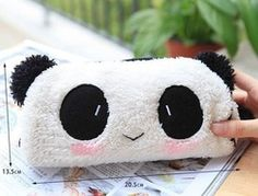 bag skull on sale at reasonable prices, buy Kawaii Plush Fluffy Panda Pen Pencil BAG Pouch Case Packs; Pendant Cosmetic & Beauty Pouch Bag Case Coin Purse Wallet BAG from mobile site on Aliexpress Now! Bag In Bag, Pouch Bag, Purse Wallet, Coin Purse, Sew Wallet, Panda Love, Cute Panda, Panda Panda, Makeup Storage Bag