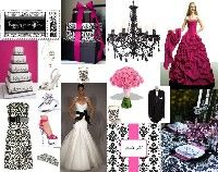 if only... pink and damask wedding