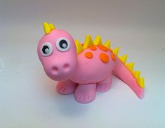 Very cute for baby cake decoration or any birthday Dinasour Birthday Cake, Dinasour Cake, Girl Dinosaur Birthday, Pink Birthday Cakes, Dinosaur Party, Dinosaur Dinosaur, Dinosaur Cake Toppers, Dinosaur Cupcakes, Dino Cake