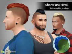 Lumia Lover Sims: Short Punk Hawk for males • Sims 4 Downloads