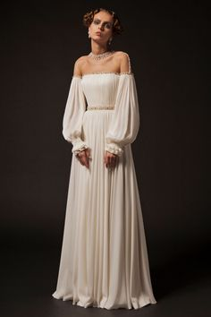 Wedding Dresses A Line Rouching Krikor Jabotian Spring/Summer 2019 Collection.Wedding Dresses A Line Rouching Krikor Jabotian Spring/Summer 2019 Collection Best Wedding Dresses, Bridesmaid Dresses, Dress Wedding, Ball Dresses, Ball Gowns, Long Dresses, Mode Outfits, Mermaid Dresses, Beautiful Gowns
