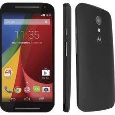Smartphone Motorola Moto G (2ª Geração) Dual Chip Desbloqueado Android 4.4 Tela 5 8GB 3G Wi-Fi Câmera de 8MP - Preto
