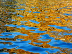 Golden Reflections by Stanley Zimny History Of Photography, Color Photography, Nature Photography, Water Abstract, Water Images, Water Patterns, Water Ripples, Landscape Artwork, Water Art